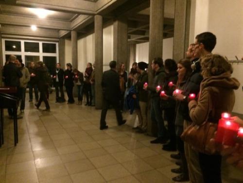 Le groupes des Veilleurs accueille Judith Butler à l'Université de Fribourg (source: https://twitter.com/VeilleursSuisse).