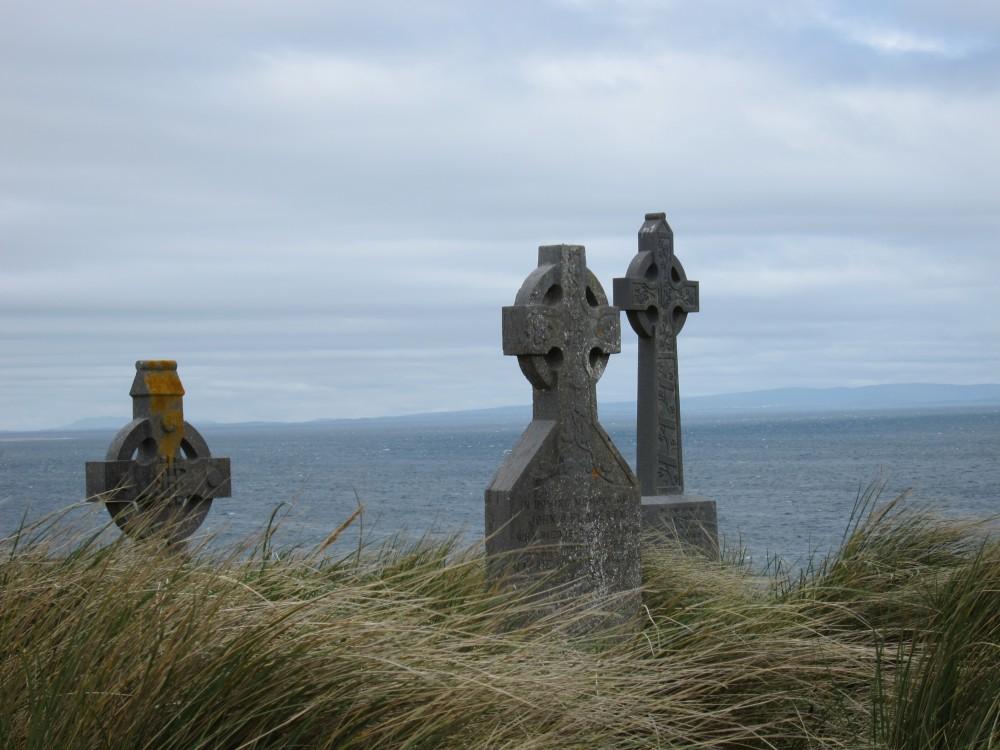 Croix sur l'île d'Inisher (Iles d'Aran, Irlande) (© 2015 Jean-François Mayer)